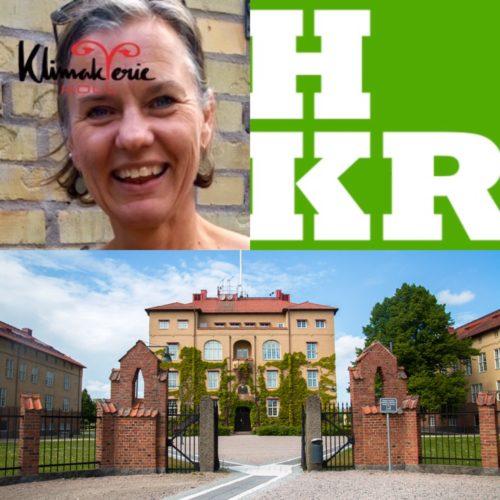 Bildcollage med Pernilla Ny och högskolan i Kristianstad