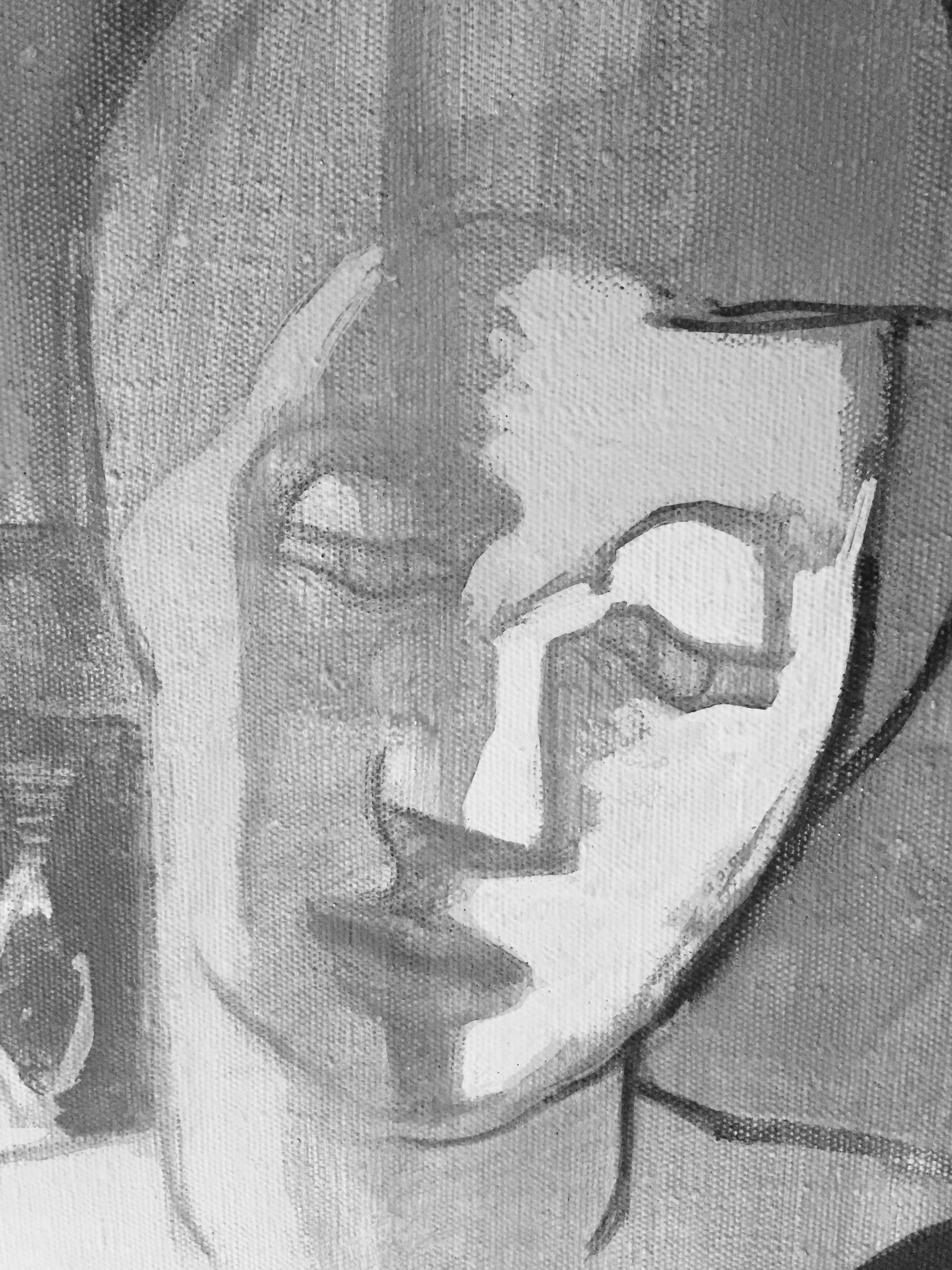 oljemålning av ett kvinnoansikte