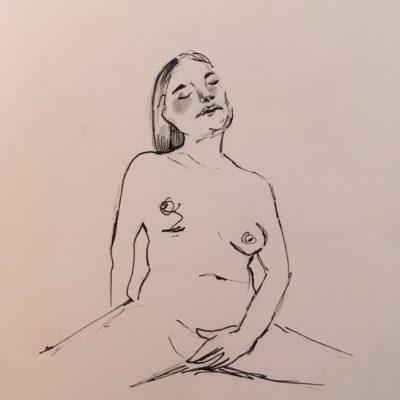 En naken kvinna